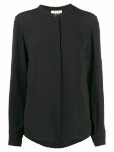 Semicouture Mandarin collar loose-fit shirt - Black