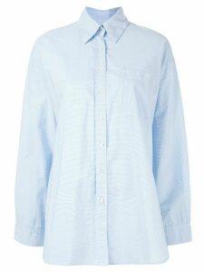 Venroy oversized poplin shirt - Blue