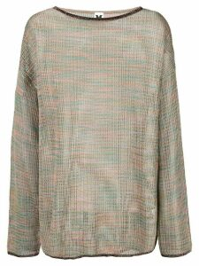 M Missoni sheer knitted jumper - Multicolour