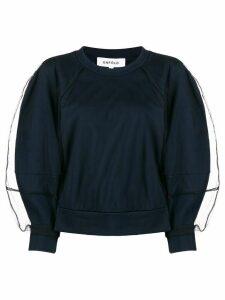 Enföld boxy tulle sleeve sweatshirt - Blue
