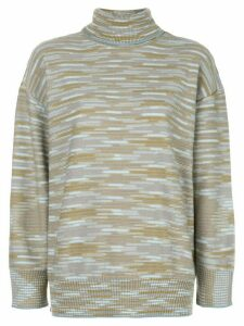 M Missoni turtleneck striped jumper - Blue