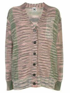 M Missoni striped fine knitted cardigan - PINK