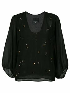 Cynthia Rowley Inverness jewel top - Black
