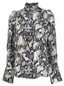 Isabel Marant snake-print blouse - Black
