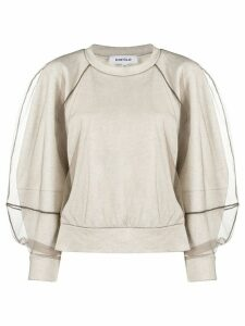 Enföld boxy tulle sleeve sweatshirt - White