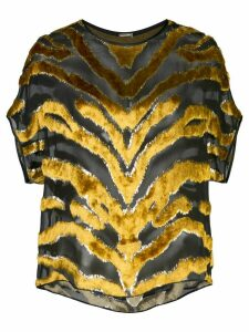 Adam Lippes tiger print blouse - Black