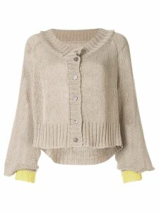 Taylor Situation two-tone cardigan - NEUTRALS