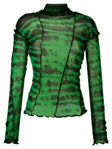 ASAI tie-dye print top - Green