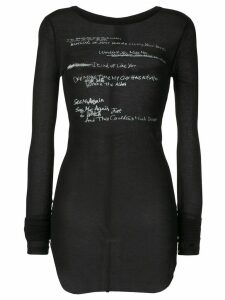 Ann Demeulemeester knitted print top - Black