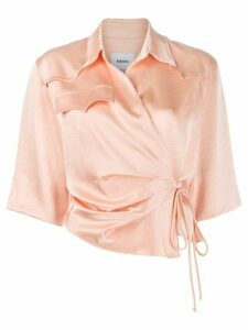 Nanushka asymmetric wrap top - PINK