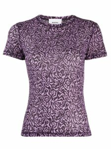 Nanushka graphic print T-shirt - PURPLE