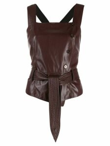 Nanushka belted strap top - Red