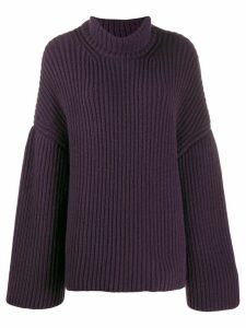 Nanushka chunky turtleneck jumper - PURPLE