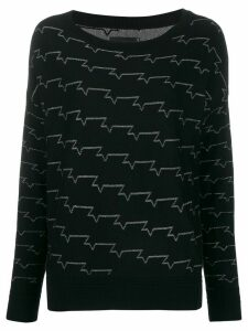 Zadig & Voltaire metallic pattern jumper - Black