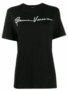 Versace embroidered logo T-shirt - Black