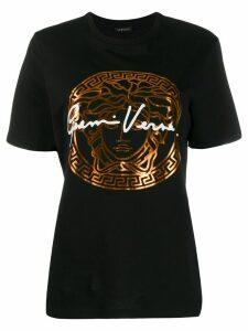 Versace signature print T-shirt - Black