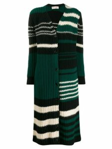 Marni long-length striped cardigan - Black