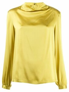 Antonelli long-sleeved flared blouse - Yellow