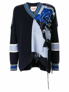 Iceberg patch-work embroidered sweater - Blue