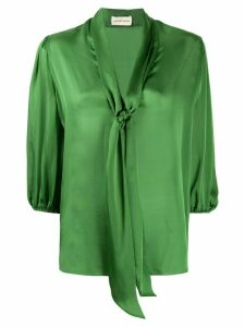 Alexandre Vauthier relaxed cropped sleeve blouse - Green