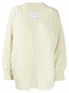 I Love Mr Mittens chunky knit cardigan - White