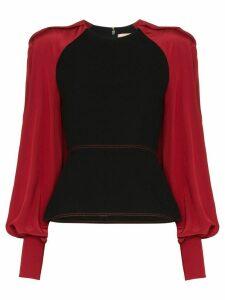 Roksanda contrast sleeve blouse - Black