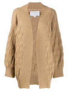 I Love Mr Mittens chunky knit cardigan - NEUTRALS