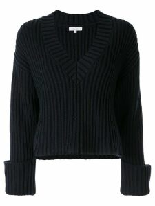 Venroy v-neck ribbed jumper - Blue