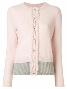 Onefifteen fringe trim cardigan - Pink