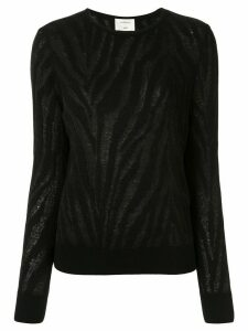 Onefifteen burnout zebra pattern jumper - Black