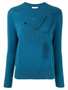 Onefifteen textured knit jumper - Blue