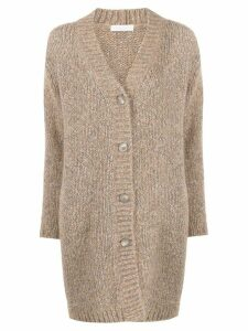 Fabiana Filippi mottled weave cardigan - NEUTRALS