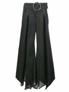 Fantabody multiple slit denim skirt - Blue