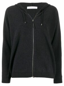 Fabiana Filippi zipped drawstring hoodie - Grey