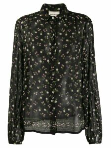 Semicouture flower bud print shirt - Black