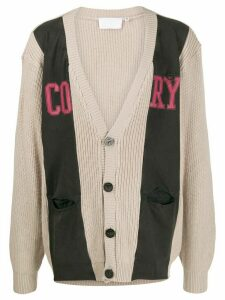 Telfar Cory jersey knit cardigan - NEUTRALS