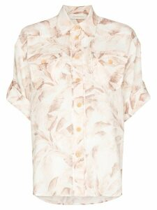 Zimmermann Safari print short sleeved shirt - PINK