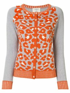 Onefifteen embroidered animal print cardigan - Grey