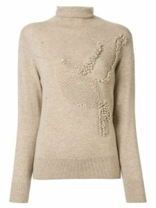 Onefifteen textured knit roll neck jumper - Brown