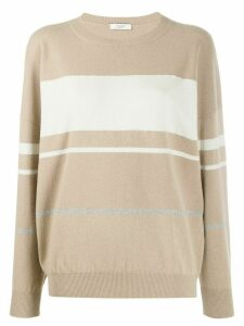 Peserico stripe detailed jumper - Neutrals