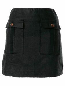 Venroy front pockets fitted skirt - Black