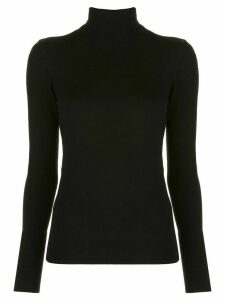 Alexis roll neck knit top - Black