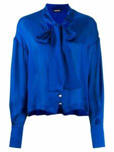 Balmain pussy-bow neck blouse - Blue