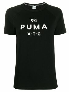 Puma logo print T-shirt - Black
