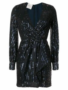 Ingie Paris long-sleeve mini dress - Blue