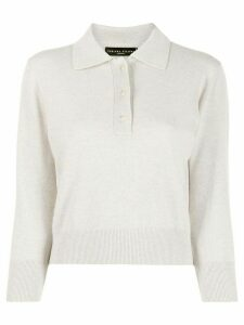 Fabiana Filippi glitter polo shirt - NEUTRALS