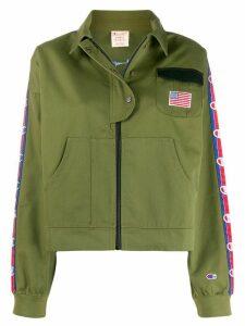 Champion logo band jacket - Green