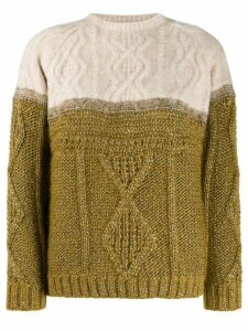 Forte Forte two-tone cable-knit jumper - Green