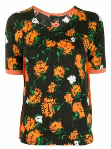 Escada floral intarsia knitted top - Black