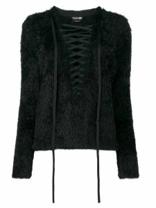 Tom Ford lace-front sweater - Black